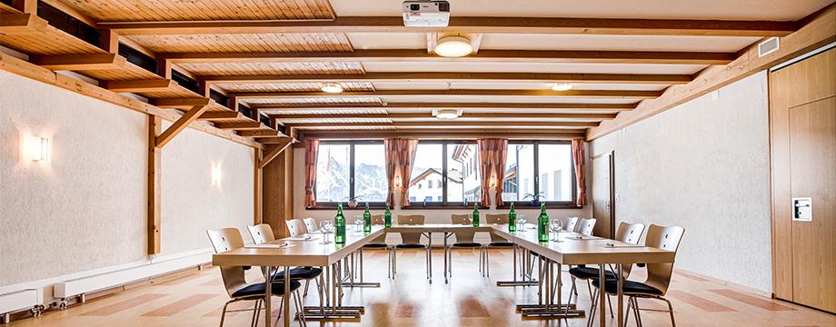 Seminarraum im Hotel Cristal-Flumserberg