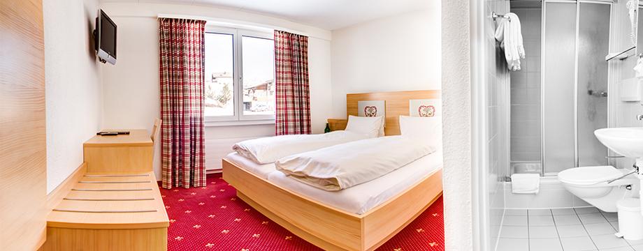 Doppelzimmer-Budget Hotel Cristal-Flumserberg